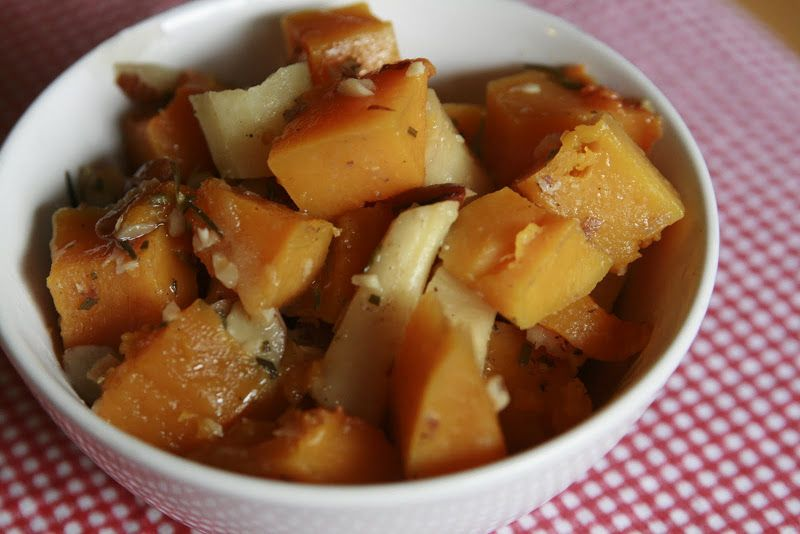 Squash & Parsnips with rosemary and almonds | Collecting the Moments