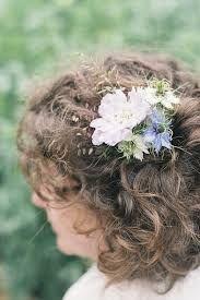 flowers in hair bride - Google Search