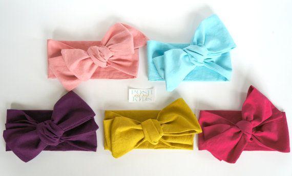 Petal Pink Organic Cotton Headwrap / Infant by PoshandPrepKids