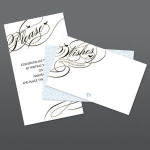 great idea. use these wish cards and hve your guests put in birdcage.