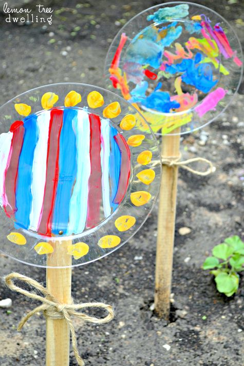 Photo of Painted Garden Flowers {create memories with kids}
