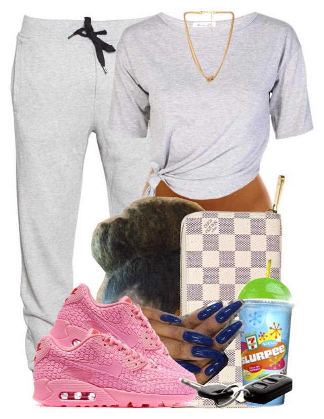 """""""862"""" by tuhlayjuh ❤ liked on Polyvore featuring Trax, Louis Vuitton, NIKE and Forever 21"""