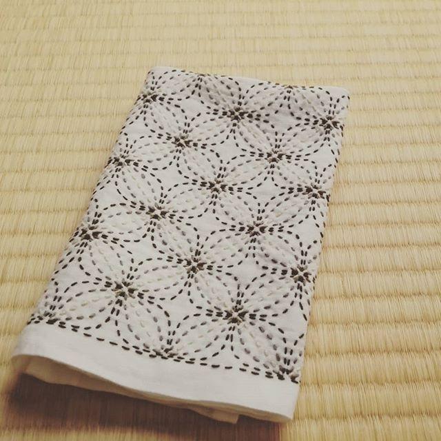 刺し子の花ふきん 変わり花文 晒 ホビーラホビーレ 糸 小鳥屋商店12