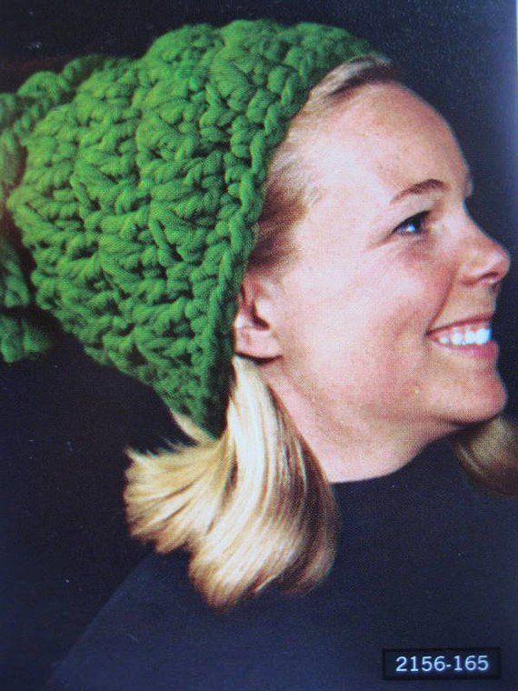 1960's Vintage Crochet Pattern Women's Hat with Tassel 2156-165