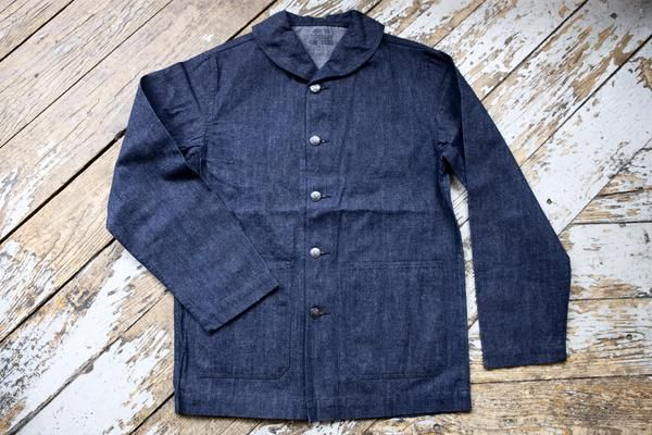 Buzz Rickson USN Shawl Collar Denim Work Jacket