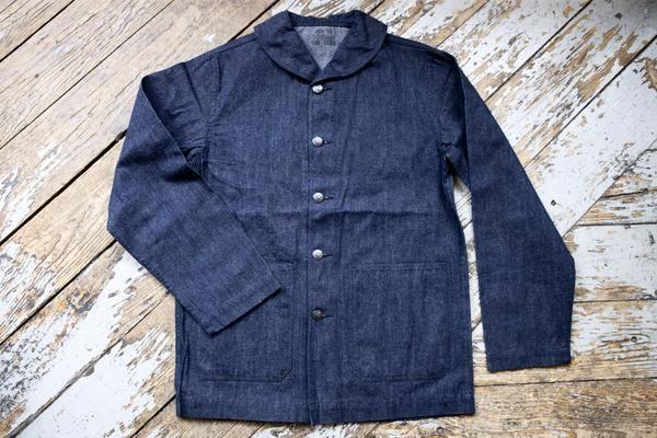 Buzz Rickson USN Shawl Collar Denim Work Jacket | Retro ...