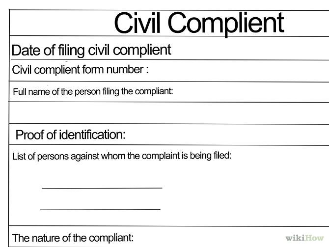 Sample Civil Complaint Form Customer Complaint Form Examples Sample