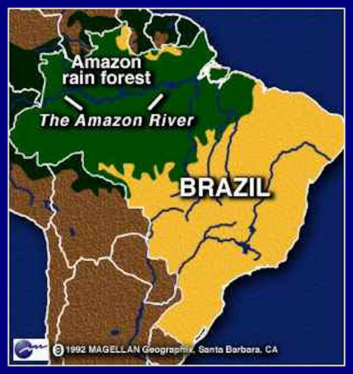 map of rainforest in brazil 60 of brazil is covered in