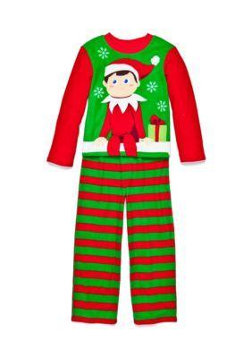 Elf on the Shelf  2-Piece Fleece Pajama Set Boys 4-10