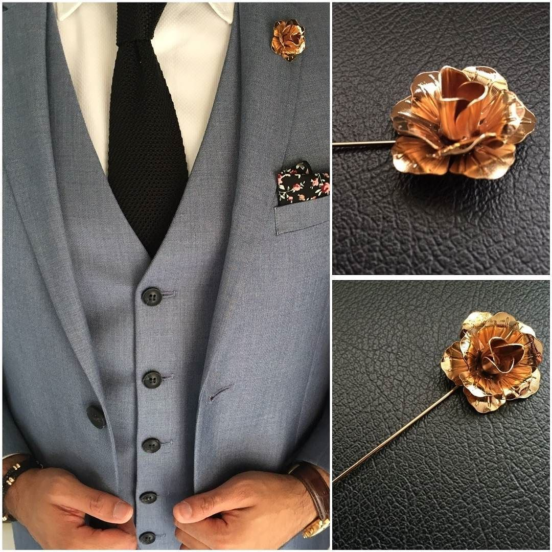 3a39632ce77 ... Location Pins On Lapel Suits: Gold Rose Lapel Pin Now On Www.mrlapel.