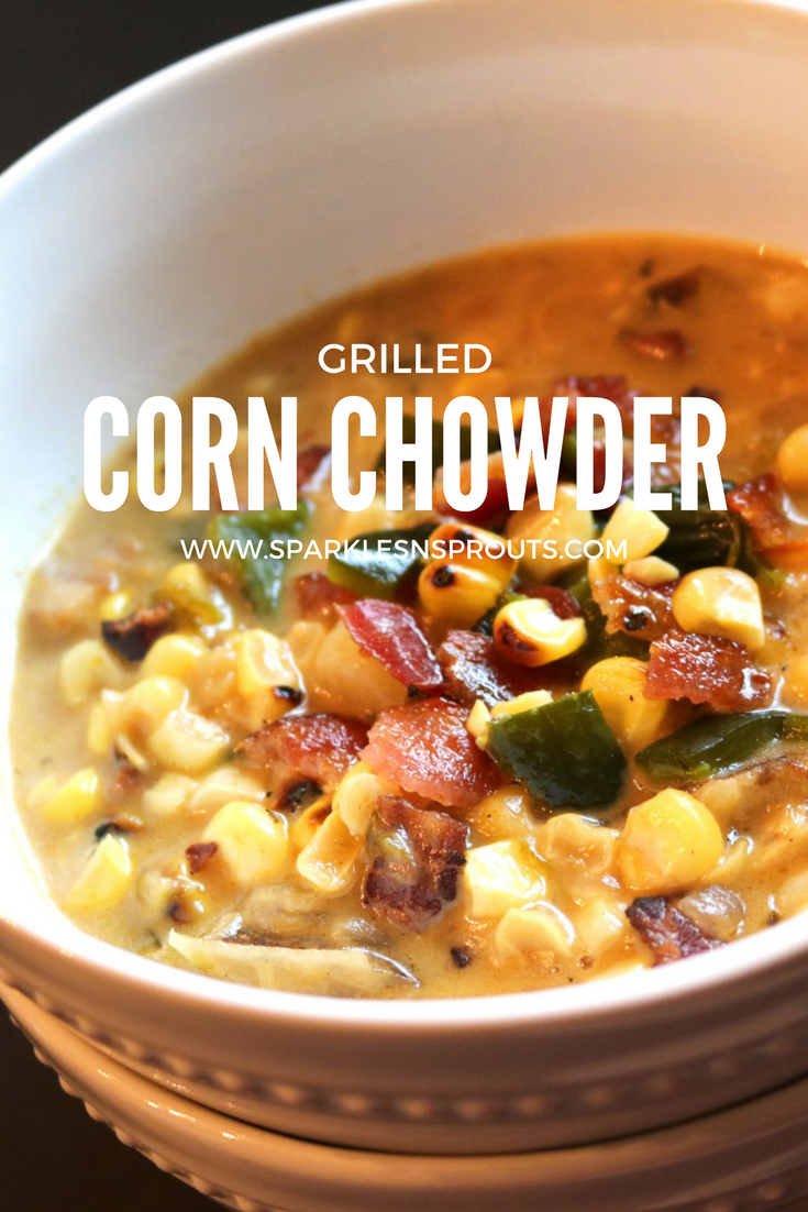 This Grilled Corn Chowder is a great way to use all that fresh corn that is popping up everywhere ... yep popping up :)