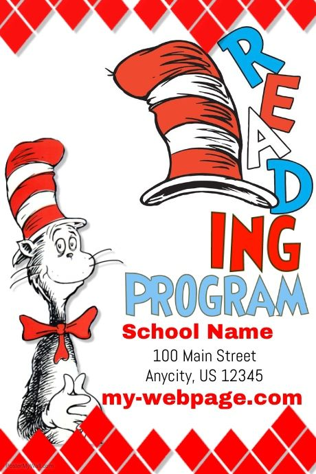 Design Preview Social Media Graphics Promotional Flyers Dr Seuss Coloring Pages