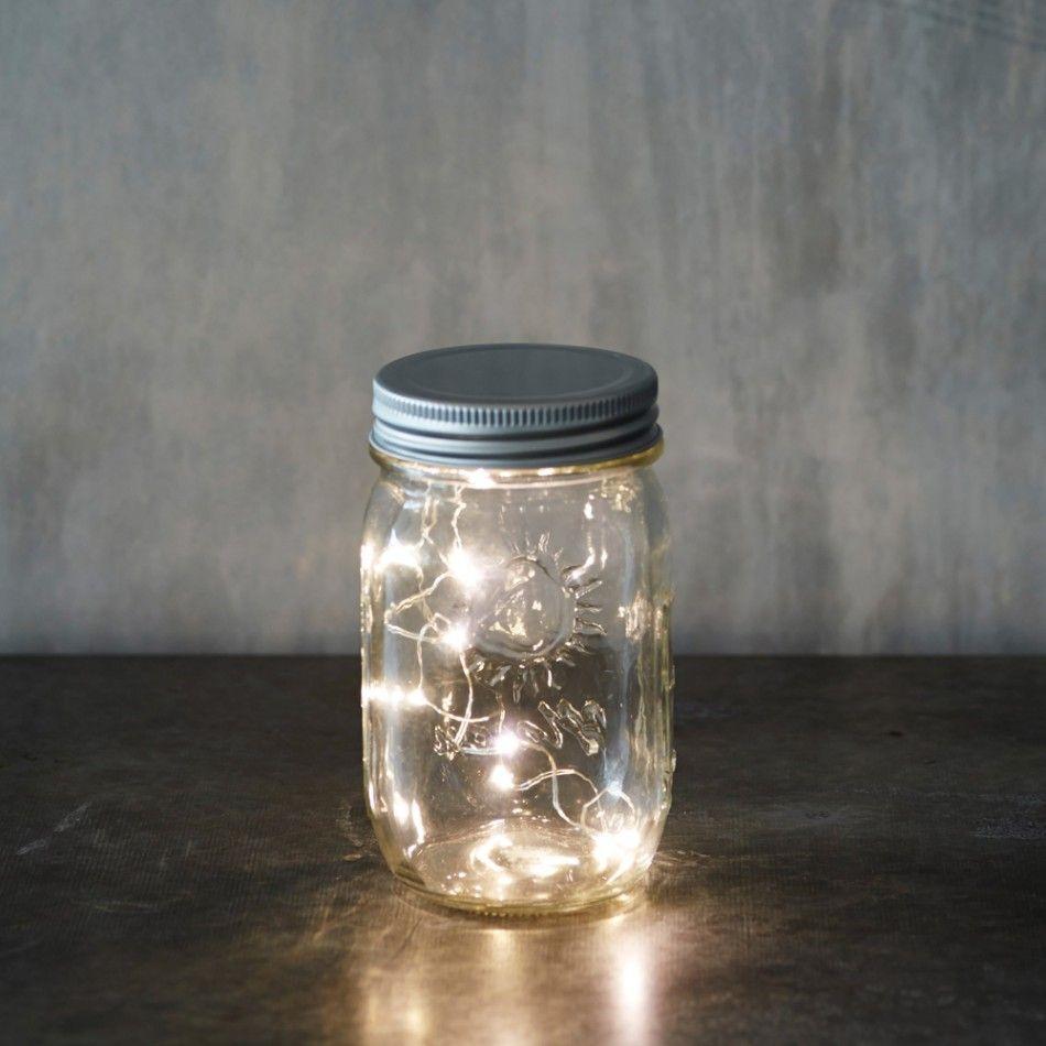 Decorative Jars Jar With Led Lights  Bonfire Night  Graham & Green  Bonfire