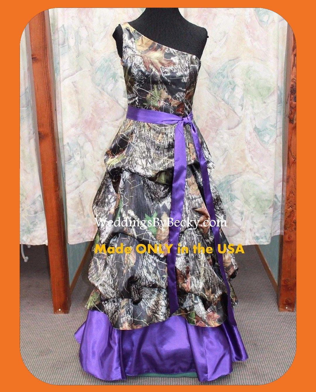 Image found on google search for purple camo wedding dress
