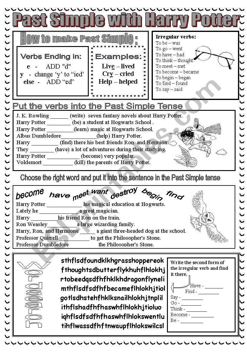 A Worksheet Based On The Harry Potter Movie There Is Some Simple Explanation Of The Affirmat Harry Potter English Harry Potter Lessons Harry Potter Classroom [ 1169 x 821 Pixel ]
