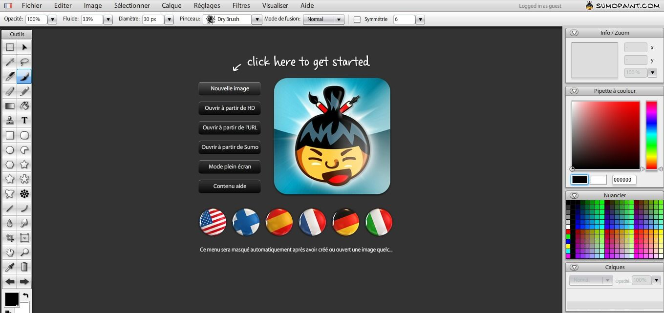 Sumo Paint 3.7 | Online image editor, Image editor and Online images