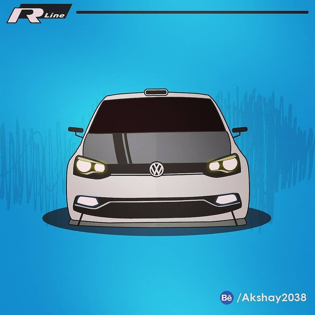 When You Go Out Racing In A Volkswagen Polo Vector Illustration