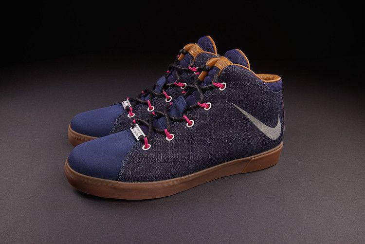 uk availability 91fa7 ed049 Nike LeBron 12 NSW Lifestyle Denim Midnight Navy Fireberry 716417 400