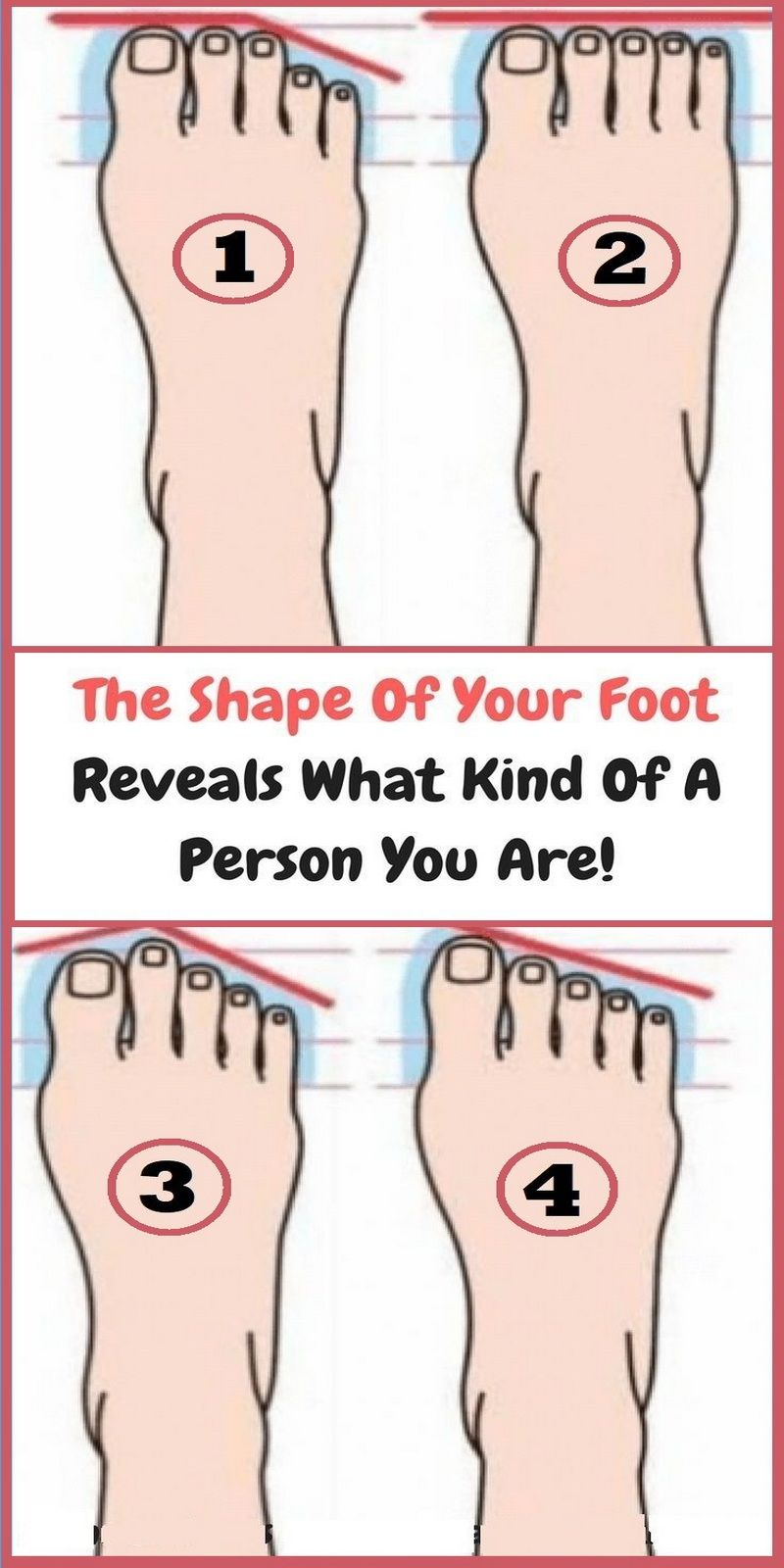 What Does The Shape Of Your Foot Say About Your Personality   best news here is part of Health healthy - The feet and toes are different in everyone  But, did you know they are connected to our personality in an interesting way  A research shows that the shape