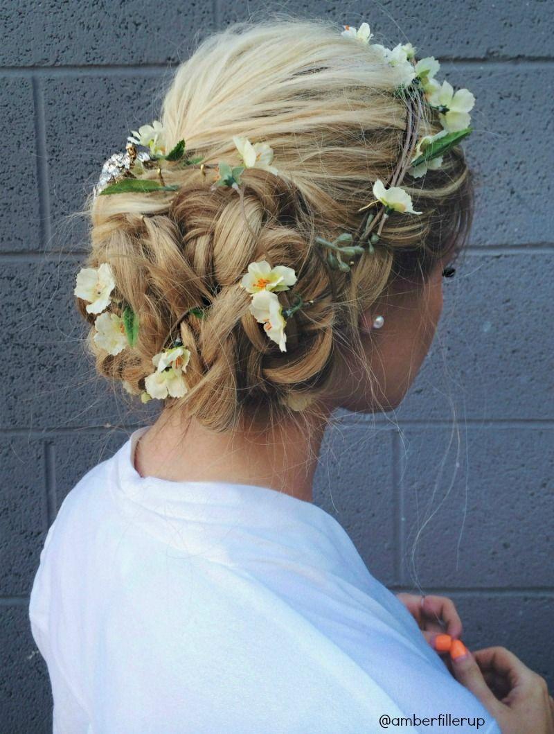 prom/wedding flower up-do tutorial | hair | pinterest | barefoot