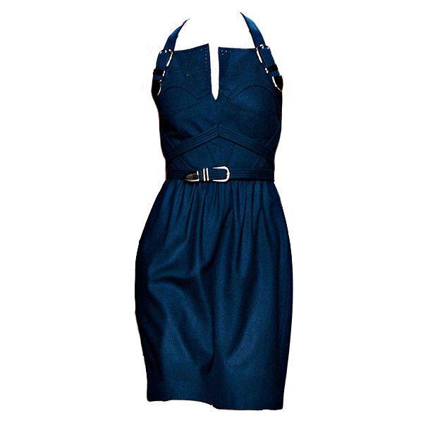 Marios Schwab ❤ liked on Polyvore featuring dresses, vestidos, blue, short dresses, marios schwab, short blue dresses, blue dress, blue mini dress and marios schwab dress