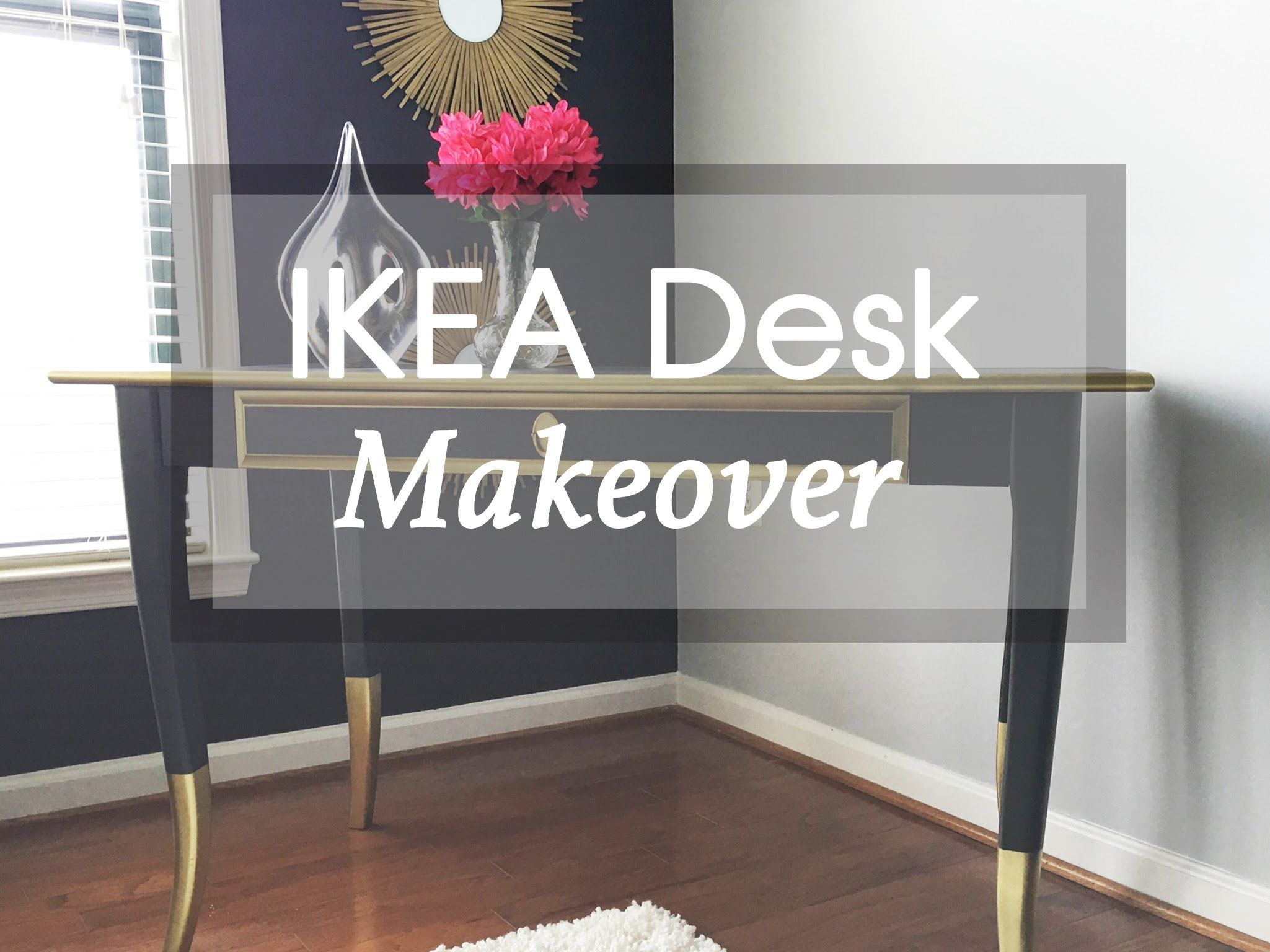 Diy ikea leksvik desk furniture makeover art recycling