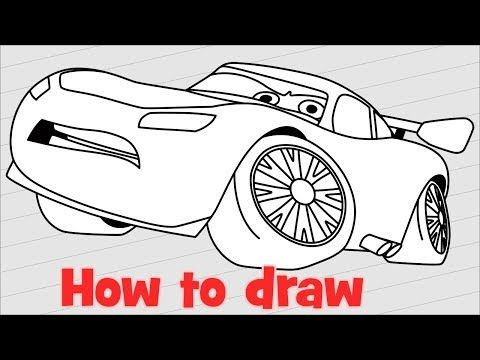 How to draw Lightning McQueen from Cars 3 step by step ...