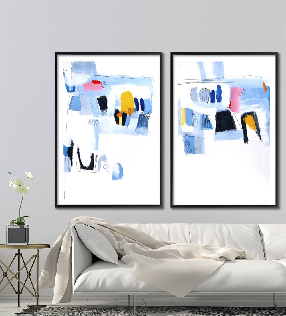 Large art print of abstract painting large wall art abstract art