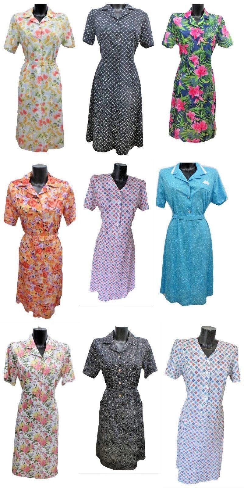 Summer Dress For The Older Woman. Vintage Dresses Elderly Ladies