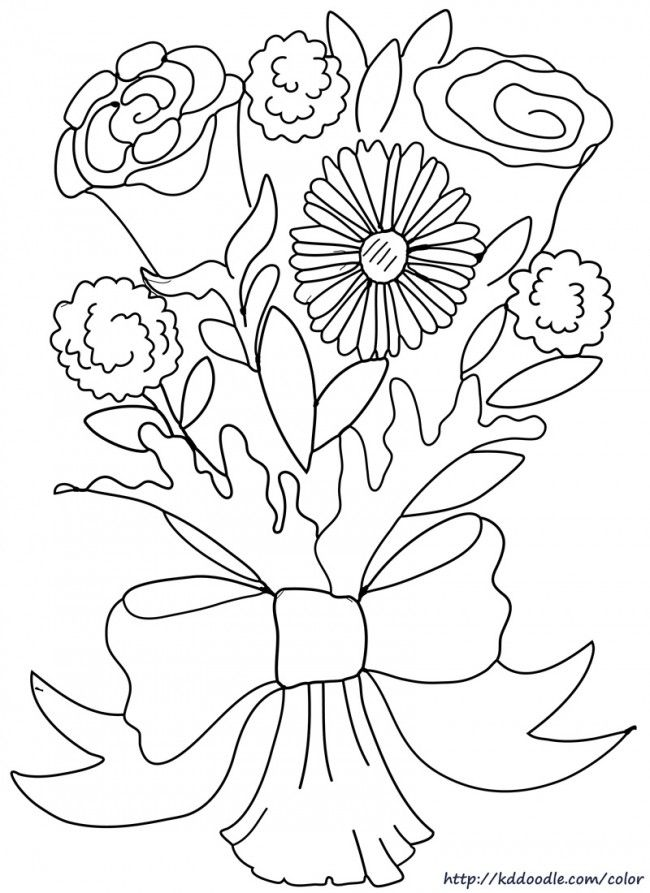 Rose Coloring Page From My Favorite Color Book Site
