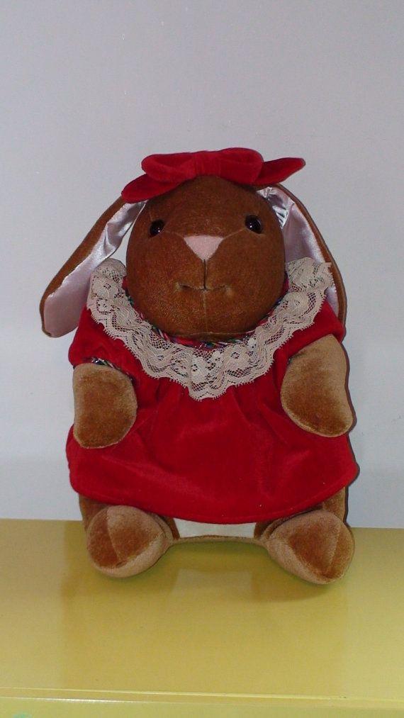 Vintage 1985 Velveteen Rabbit Stuffed Rabbit Toy Made Etsy Velveteen Rabbit Rabbit Toys Toys