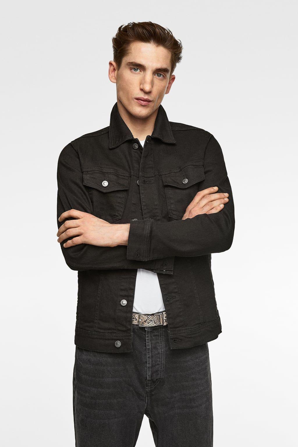 Image 2 of BASIC DENIM JACKET from Zara Faux leather