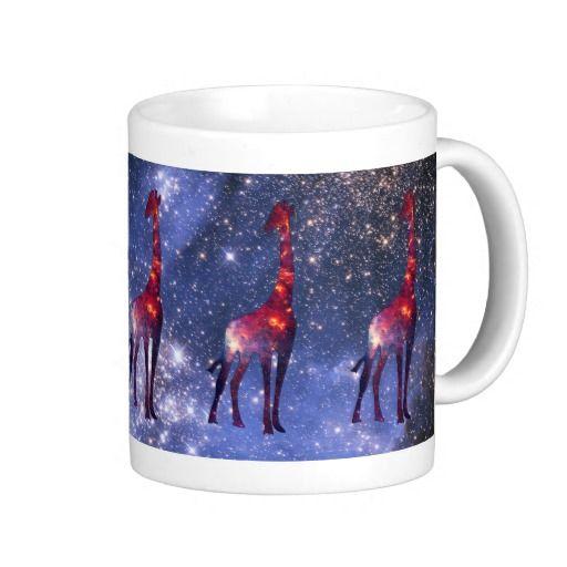 Galaxy Giraffe Coffee Mug :: http://www.zazzle.com/galaxy_giraffe_coffee_mugs-168092273681279232?rf=238275595751652200