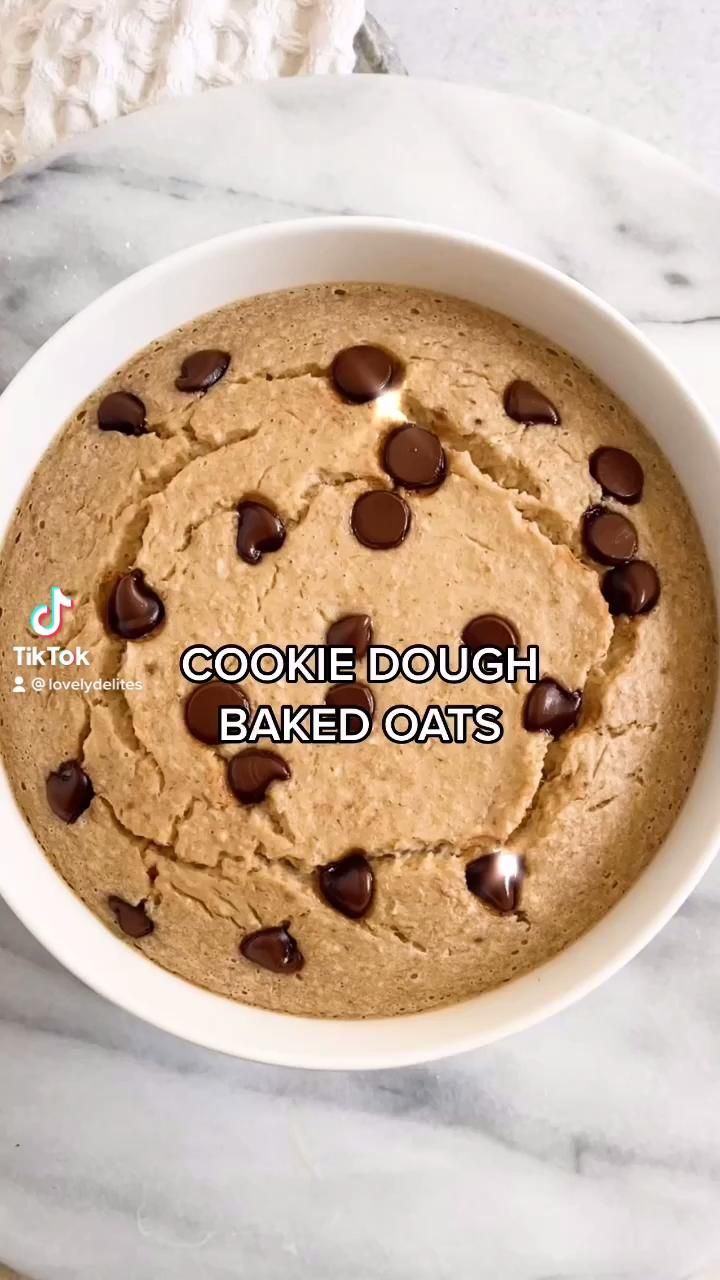Photo of Vegan Cookie Dough Baked Oats