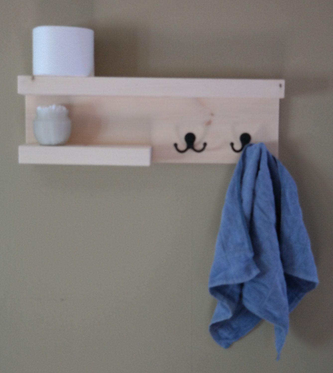 unfinished modern 2 tier floating shelf bathroom towel rack 2 bronze