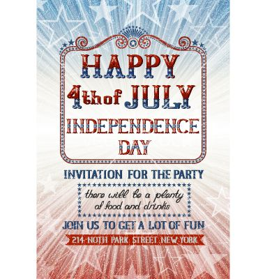 Fourth of july invitation vector party design by djahan on fourth of july invitation vector party design by djahan on vectorstock stopboris Image collections
