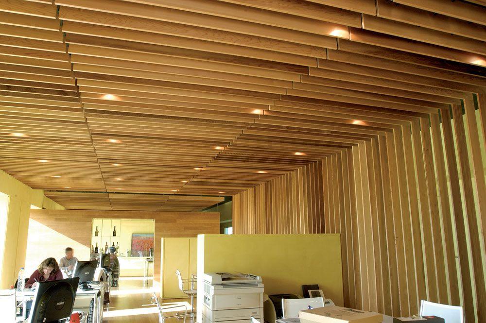 Cielorraso de tablitas hochbett pinterest tabla - Falso techo madera ...