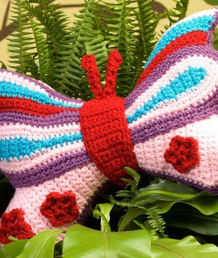 Brilliant Butterfly Pillow Crochet Free Pattern Haken Gratis