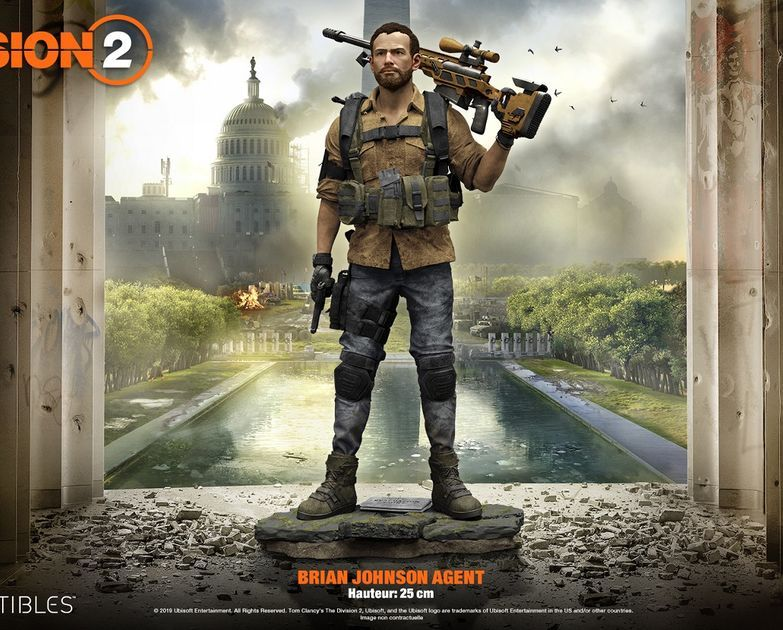 Tom Clancy S The Division 2 The Brian Johnson Figurine Large Tom Clancy The Division Tom Clancy Brian Johnson
