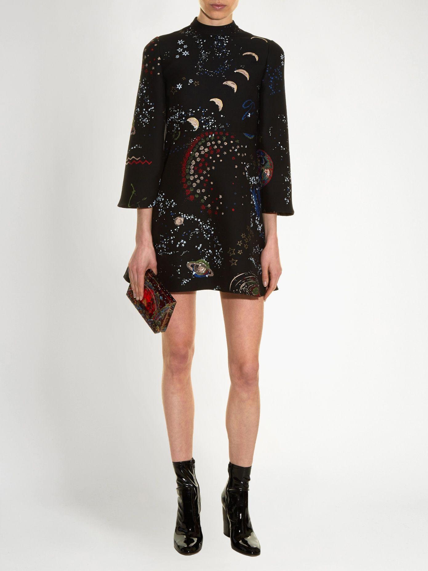 4fd265ba517 Astrocouture high-neck crepe mini dress | Valentino | MATCHESFASHION.COM