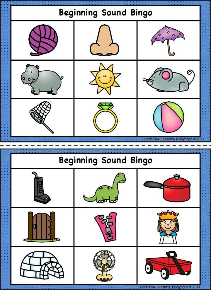 Beginning sound bingo beginning sounds bingo bingo board