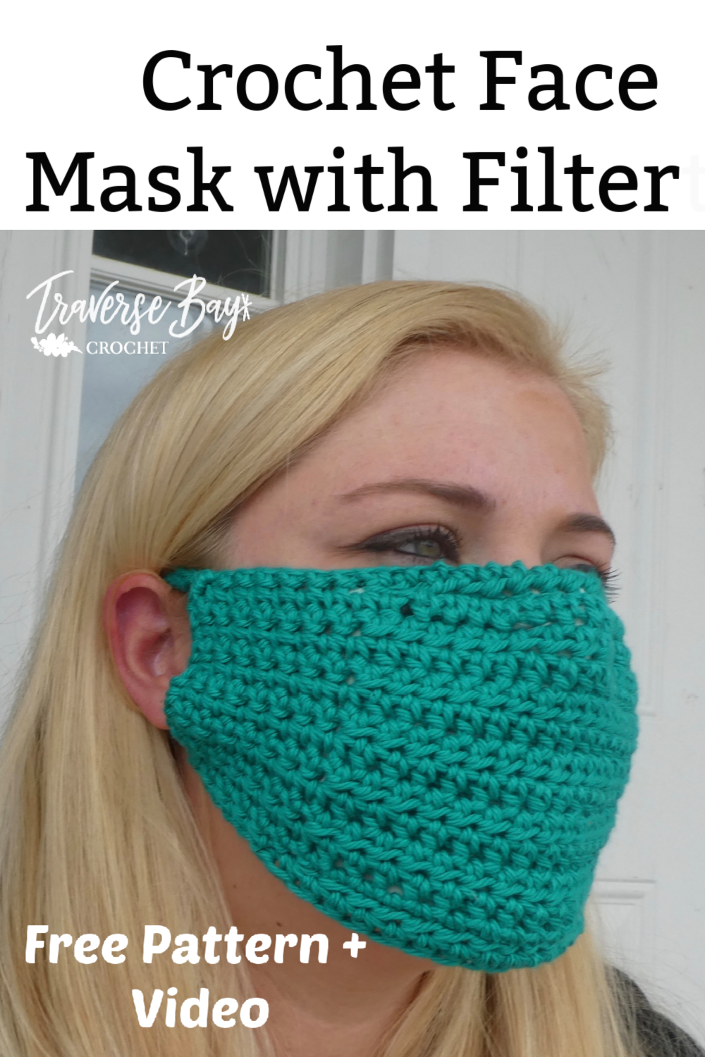 Easy DIY Crochet Face Mask with Filter easy crochet face