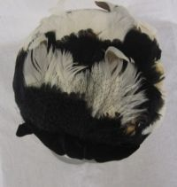 Vintage Feather and Velvet Black Bow Evening Hat