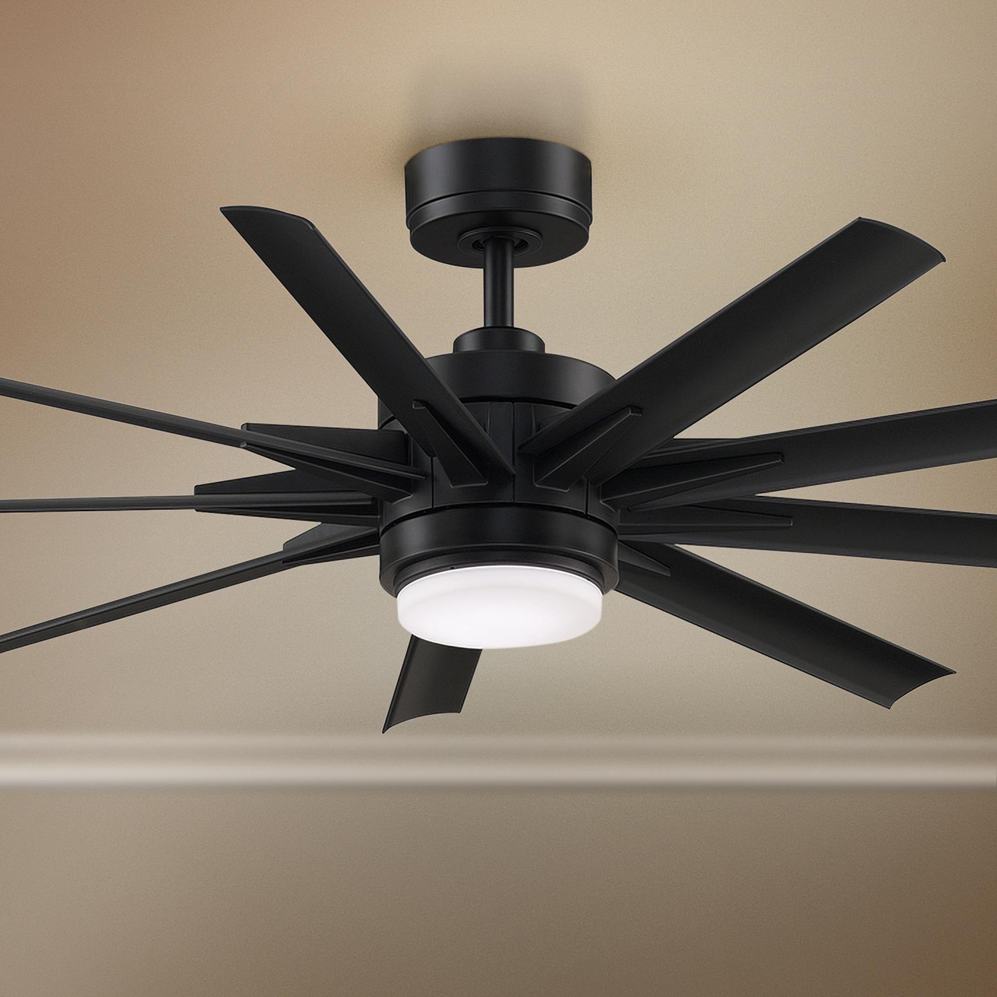 72 Fanimation Odyn Custom Black Led Outdoor Ceiling Fan Led Ceiling Fan Ceiling Fan Outdoor Ceiling Fans 72 inch outdoor ceiling fan