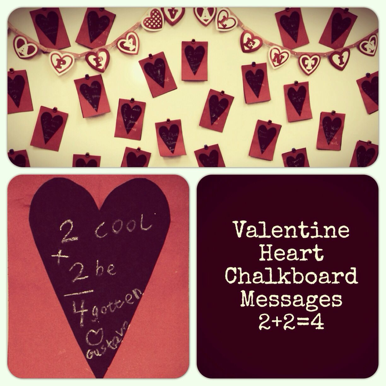 February art wall valentine heart chalkboard messages do
