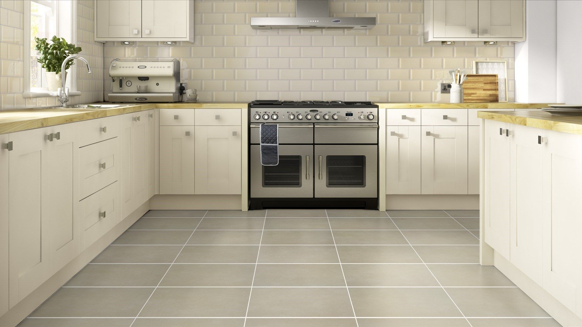Oc Kitchen And Flooring Bevelled Cream Wall And Sativa Bone Floor Idesign Pinterest