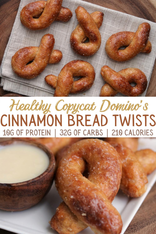 Healthy Copycat Domino's Cinnamon Bread Twists