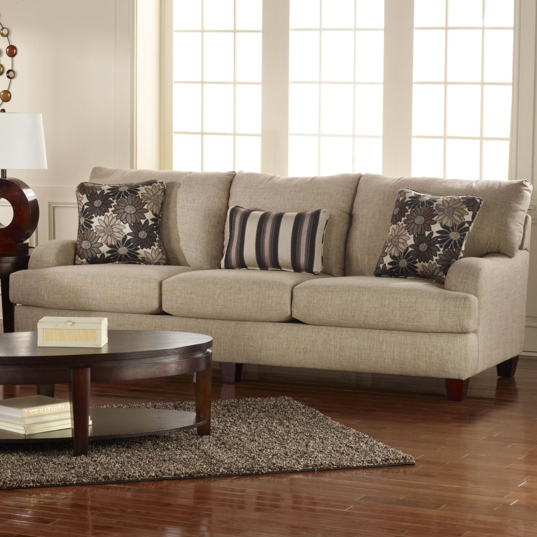 Dining Room Furniture San Diego Custom Marion Casual Styled Living Room Sofa With Beige Upholstery Design Inspiration
