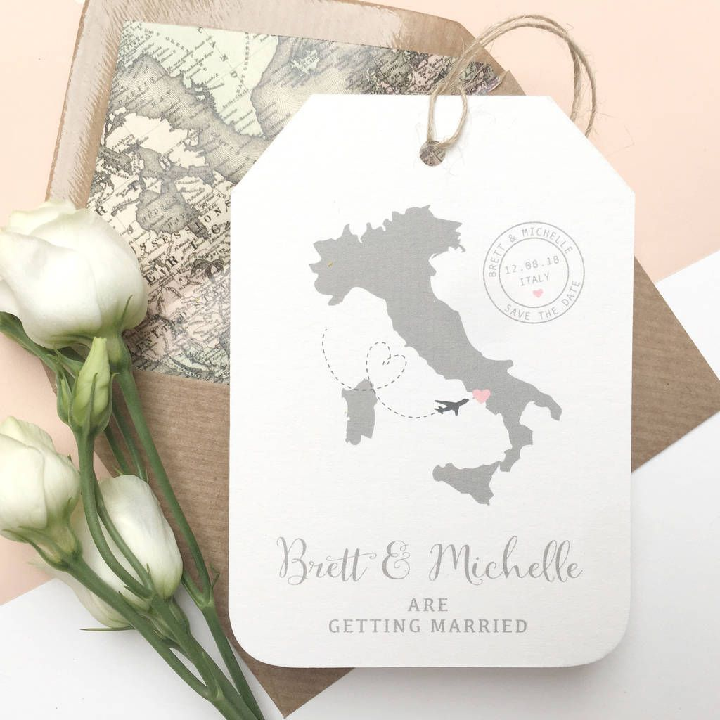 Image result for italy luggage tag save the date | Wedding Invite ...