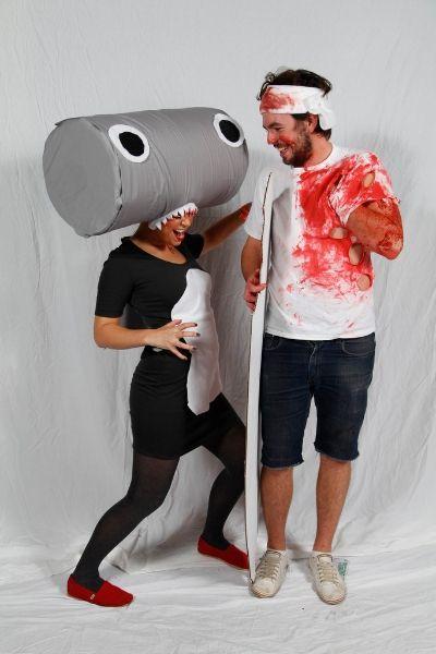 Bekah Molley, 25, Graeme Molley, 25, as Hammerhead shark ...